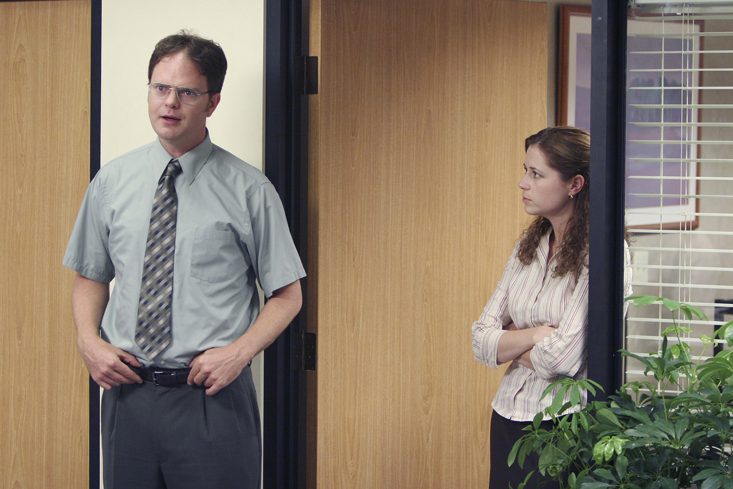 Pam and Dwight the office