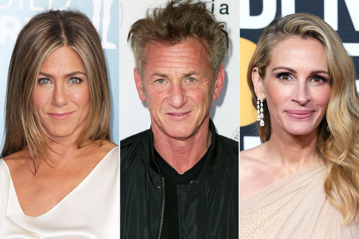 A-List cast for Fast Times at Ridgemont High Table Read for Charity including Jennifer Aniston, Sean Penn, Julia Roberts