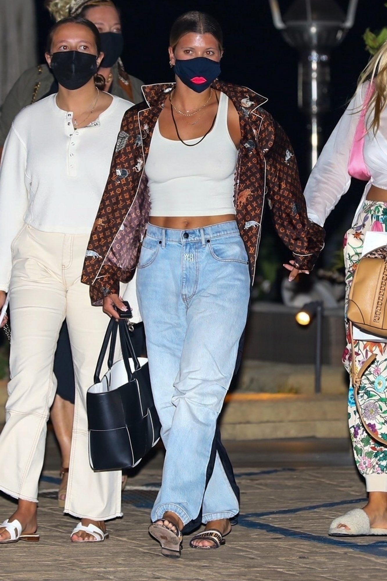 Sofia Richie heads out after dinner with friends at Nobu in Malibu.