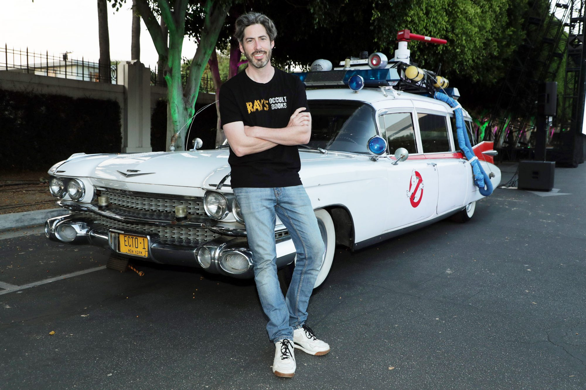 Jason Reitman introduces a screening of the original Ghostbusters at the Sony Pictures drive-in on the historic Sony Pictures lot. Screening of the original GHOSTBUSTERS, Culver City, CA, USA