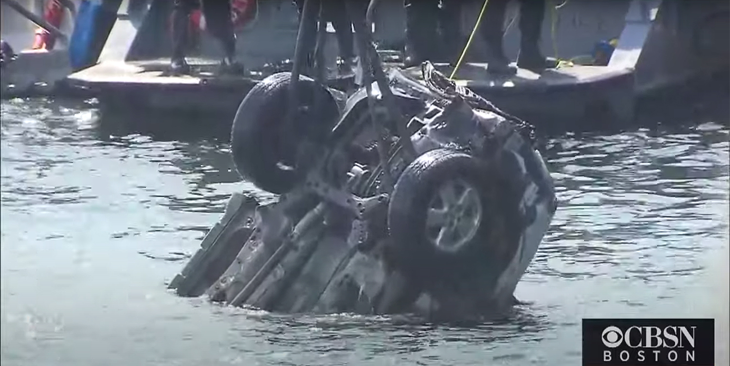 SUV pulled from Boston Harbor