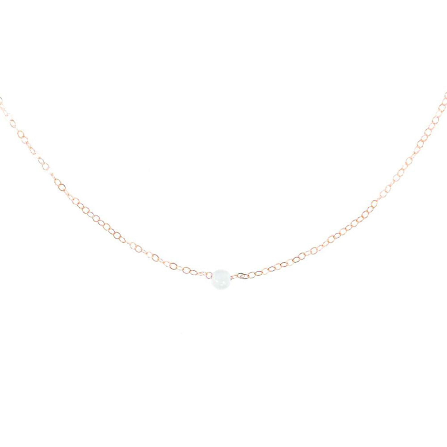 Dainty Pearl Rose Gold Necklace