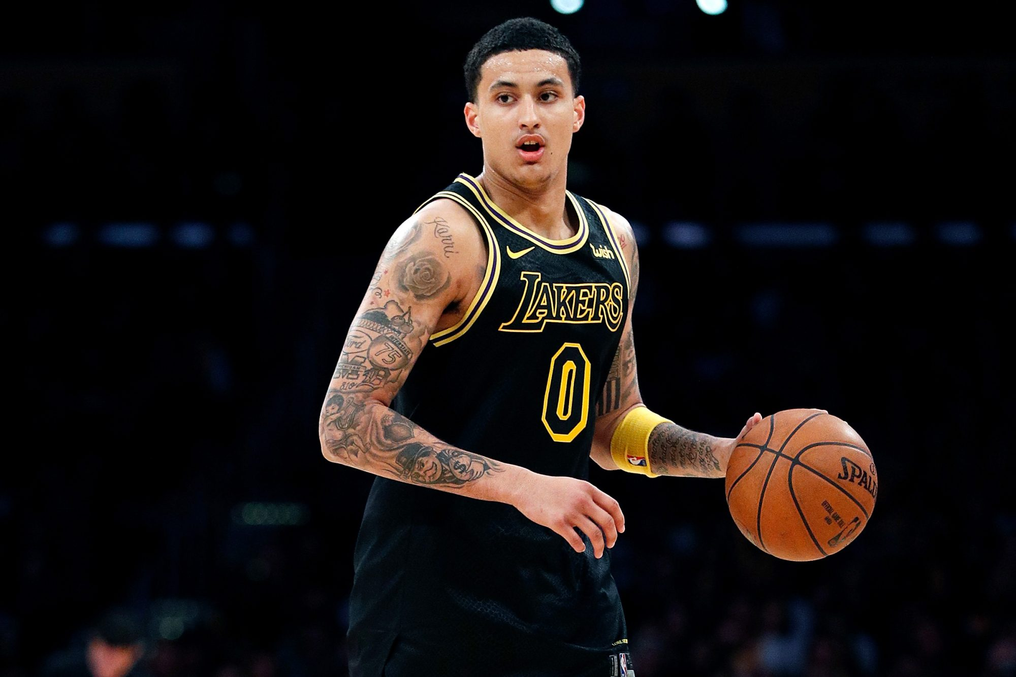 Los Angeles Lakers Black Mamba Jersey Kyle Kuzma