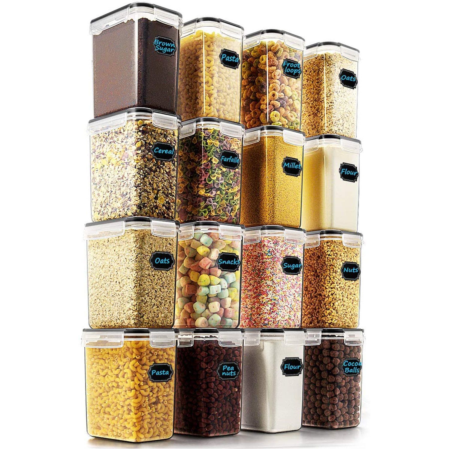 Wildone Airtight Food Storage Containers 16-Set