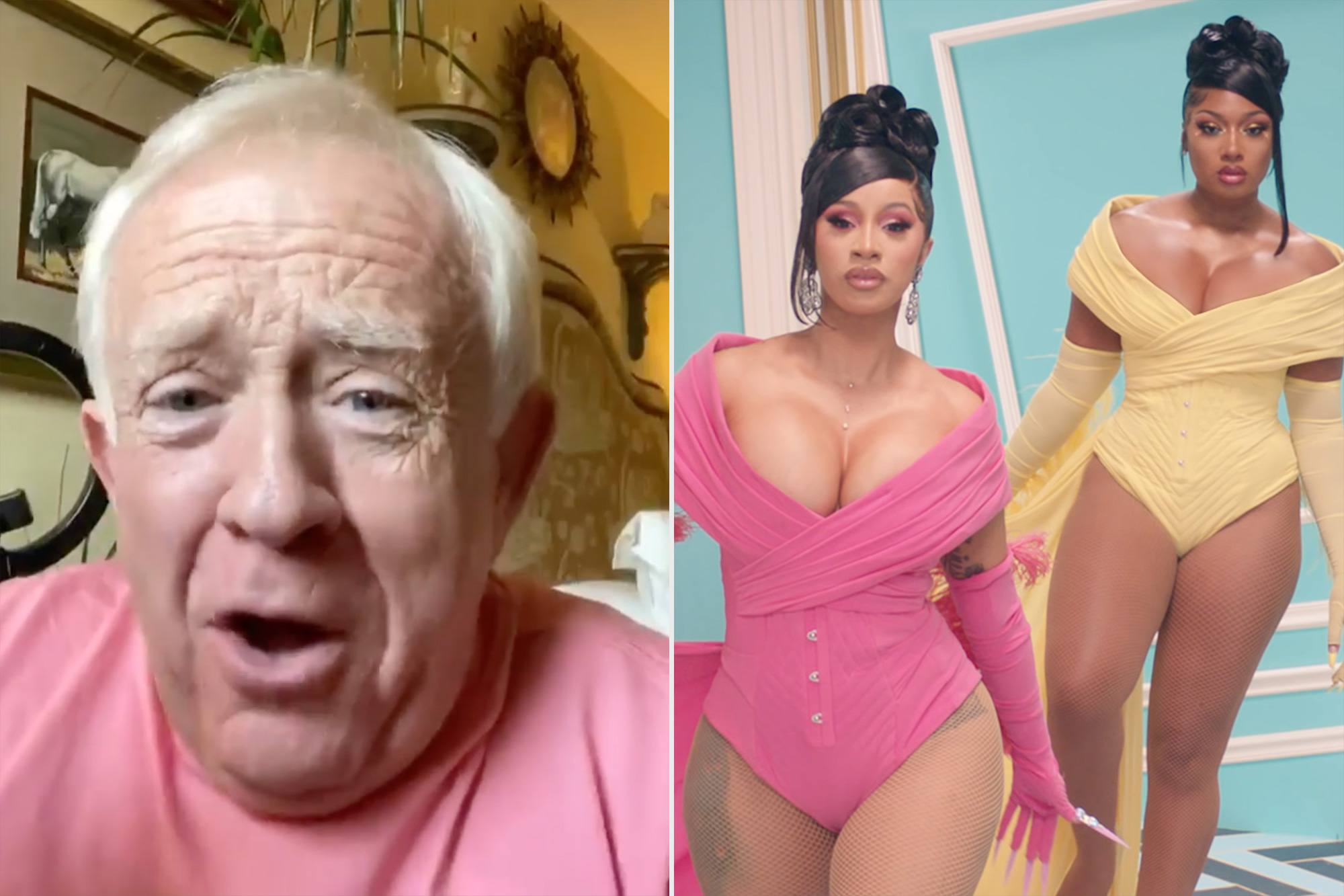 Leslie Jordan Hilariously Reacts to Cardi B and Megan Thee Stallion's Sexually Explicit 'WAP'