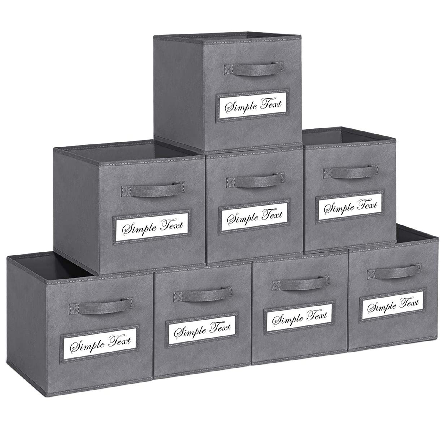 TomCare Foldable Fabric Storage Cubes Eight-Pack
