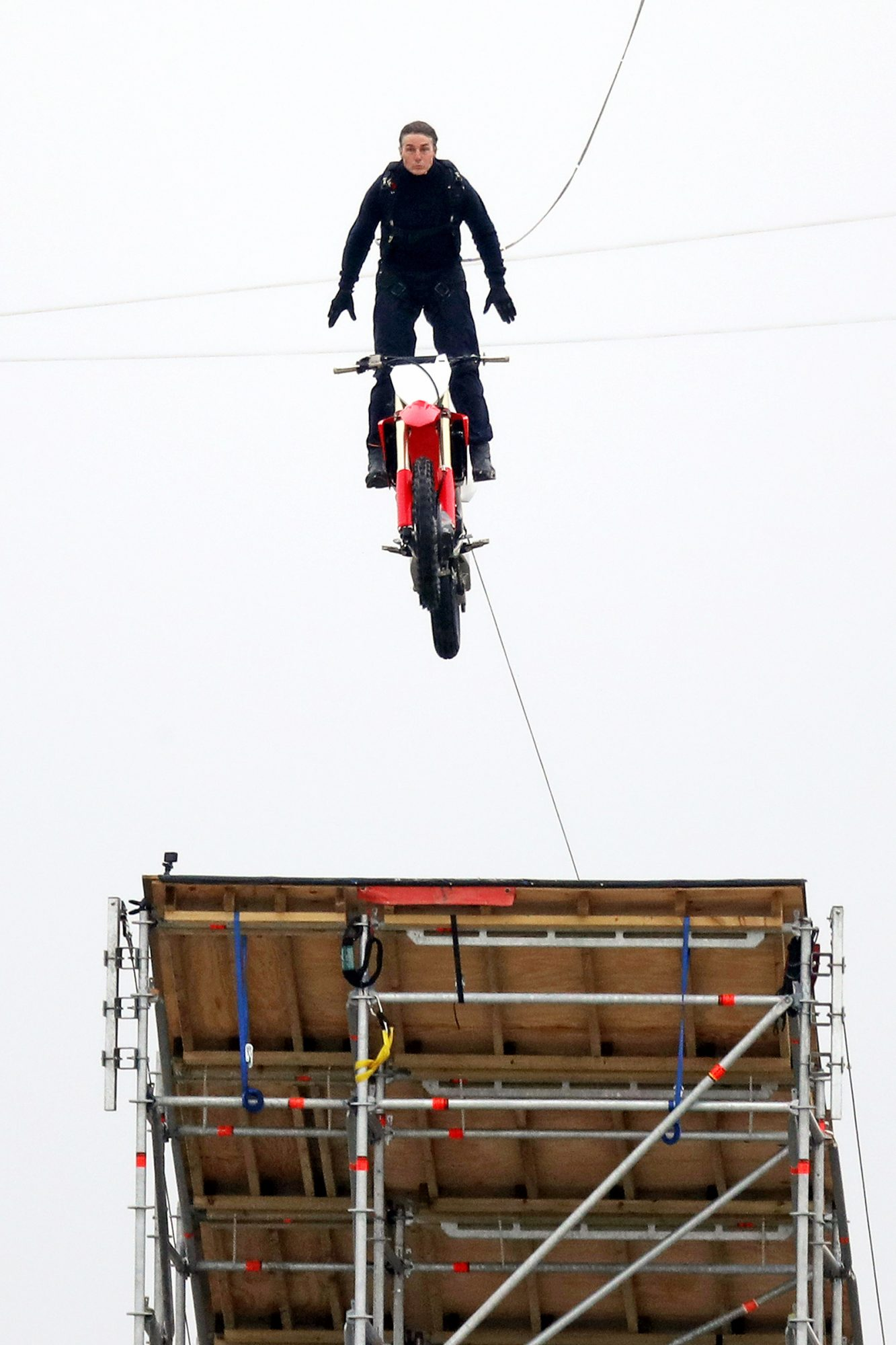 Tom Cruise Films Incredible Daredevil Stunt For Mission Impossible 7 In The Oxfordshire countryside