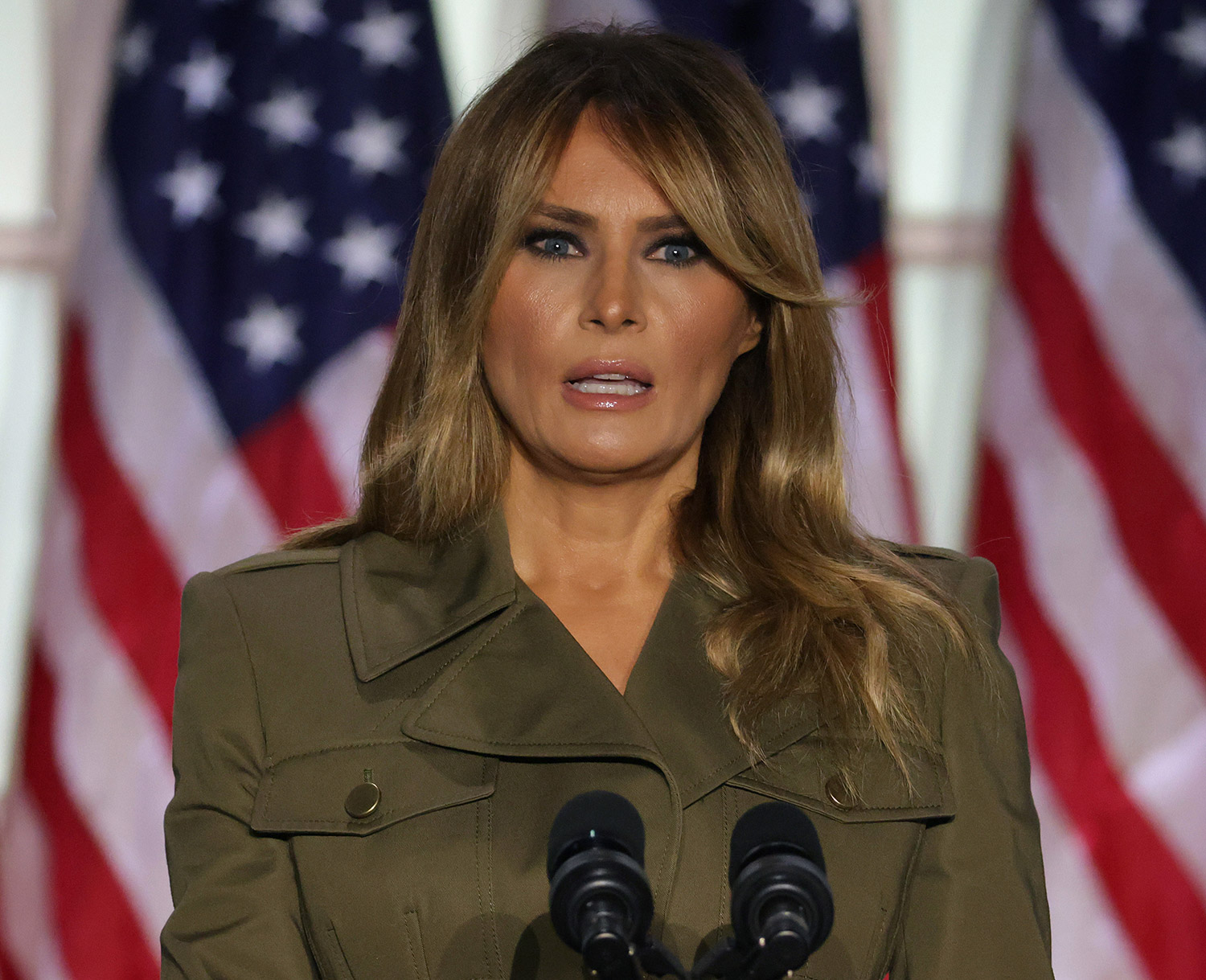 Melania Trump S Rnc Speech Includes Covid 19 Deaths Protests People Com