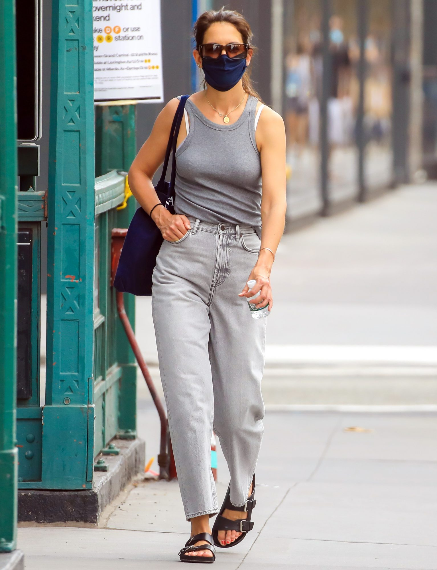 NEW YORK, NEW YORK - AUGUST 25: Katie Holmes is seen in SoHo on August 25, 2020 in New York City