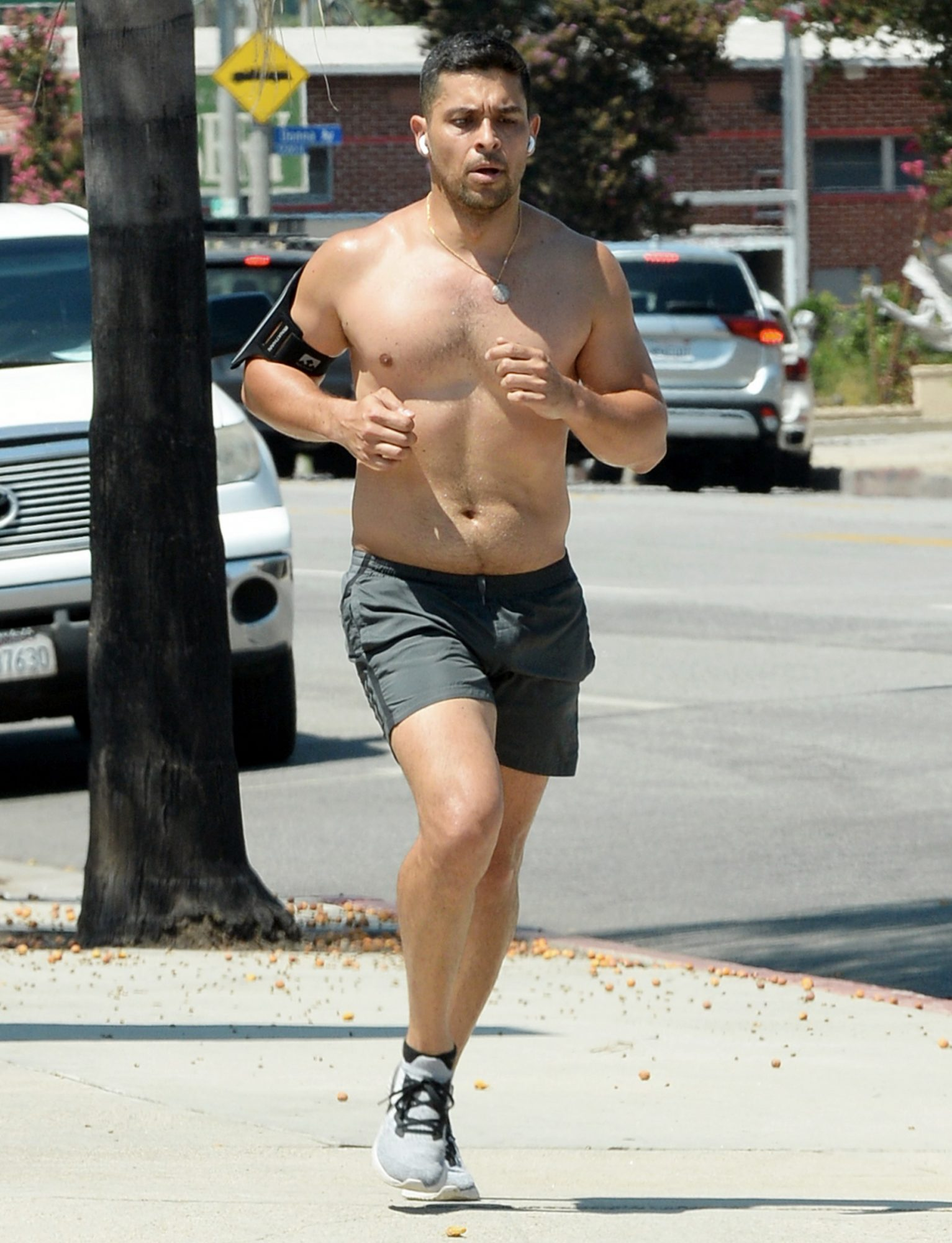 Wilmer Valderrama Heads Out For a Jog in Los Angeles.