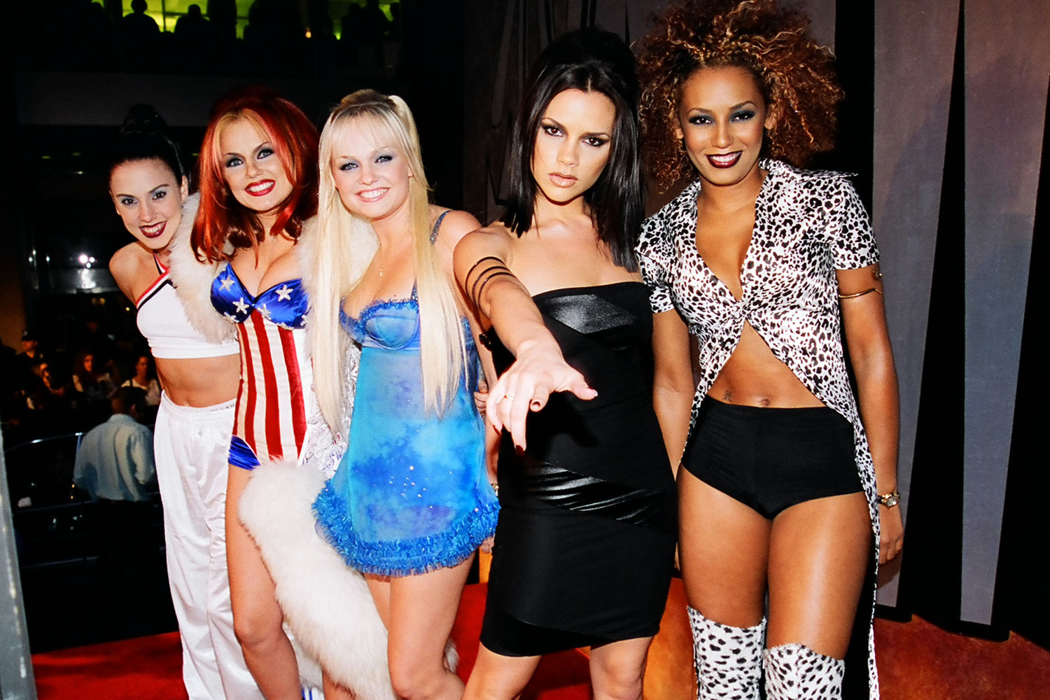 Victoria Beckham, Mel C, Emma Bunton, Geri Halliwell and Mel B from The Spice Girls
