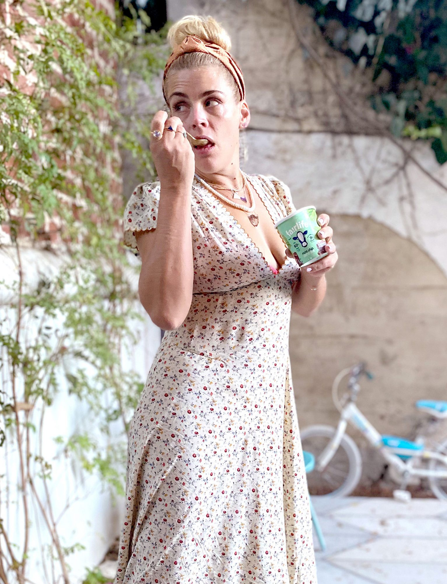 Busy Philipps satisfies her sweet tooth at home in LA with some delicious fairlife Light Ice Cream.
