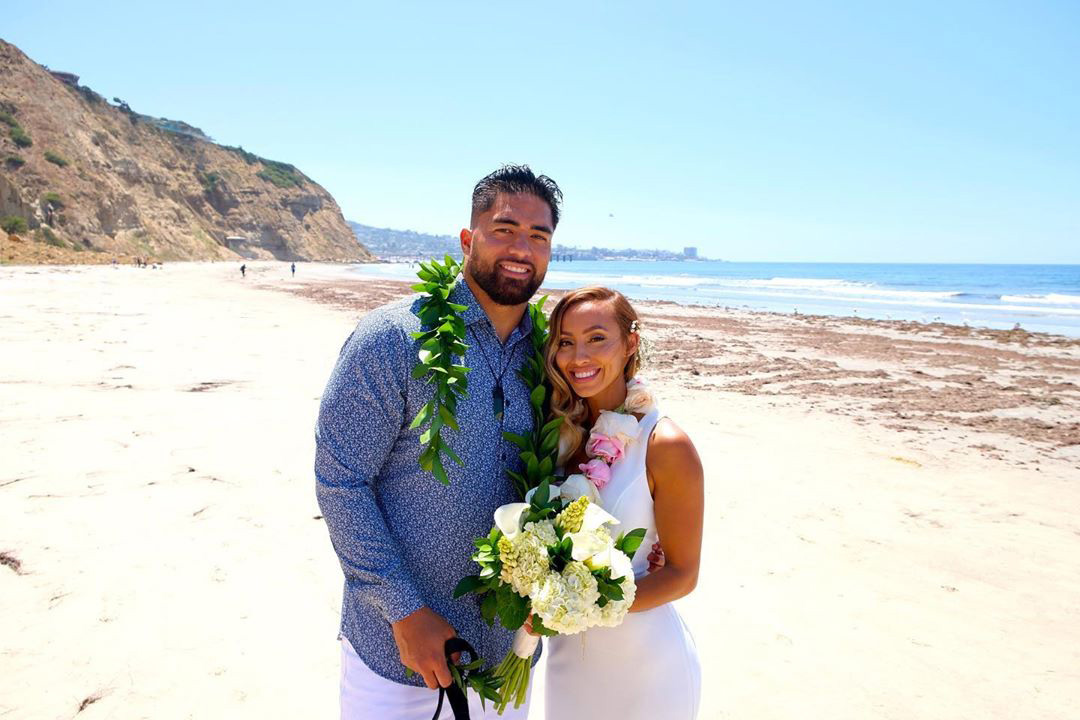 Manti Te'o, Former College Football Player Famous for Catfishing Hoax, Marries Real-Life Girlfriend