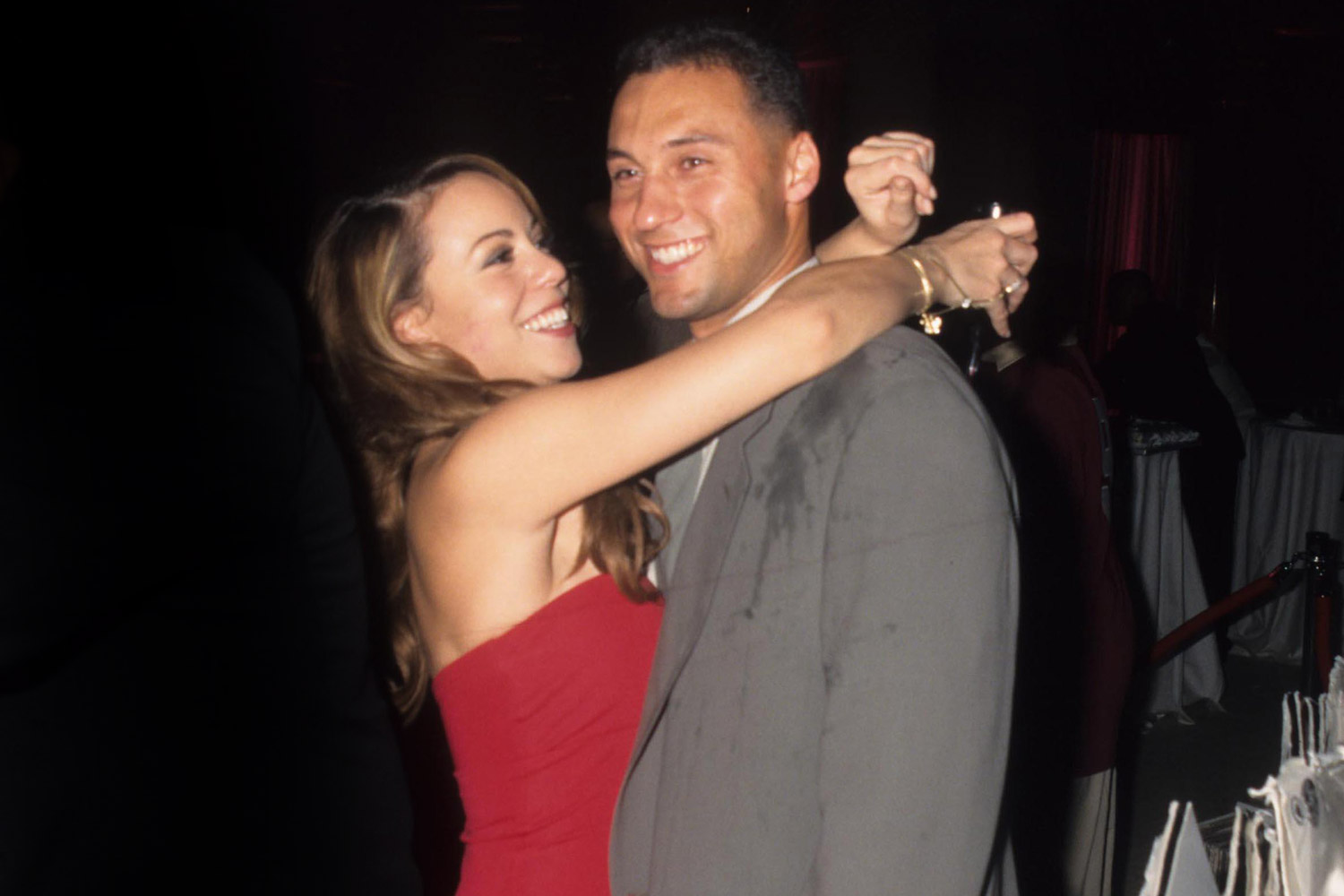 Mariah Carey and Derek Jeter