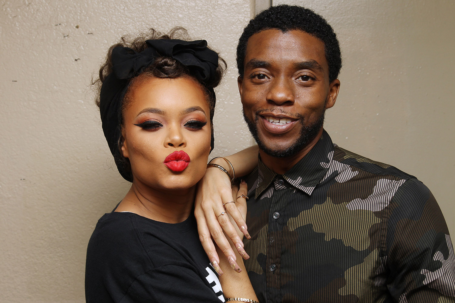 Andra Day and actor Chadwick Boseman