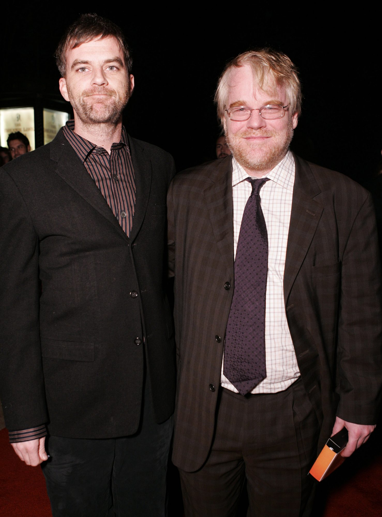 Paul Thomas Anderson and Philip Seymour Hoffman during 21st Annual Santa Barbara International Film Festival - The Riviera Award Honoring Phillip Seymour Hoffman at Marjorie Luke in Santa Barbara, CA, United States. (Photo by Chris Weeks/WireImage)