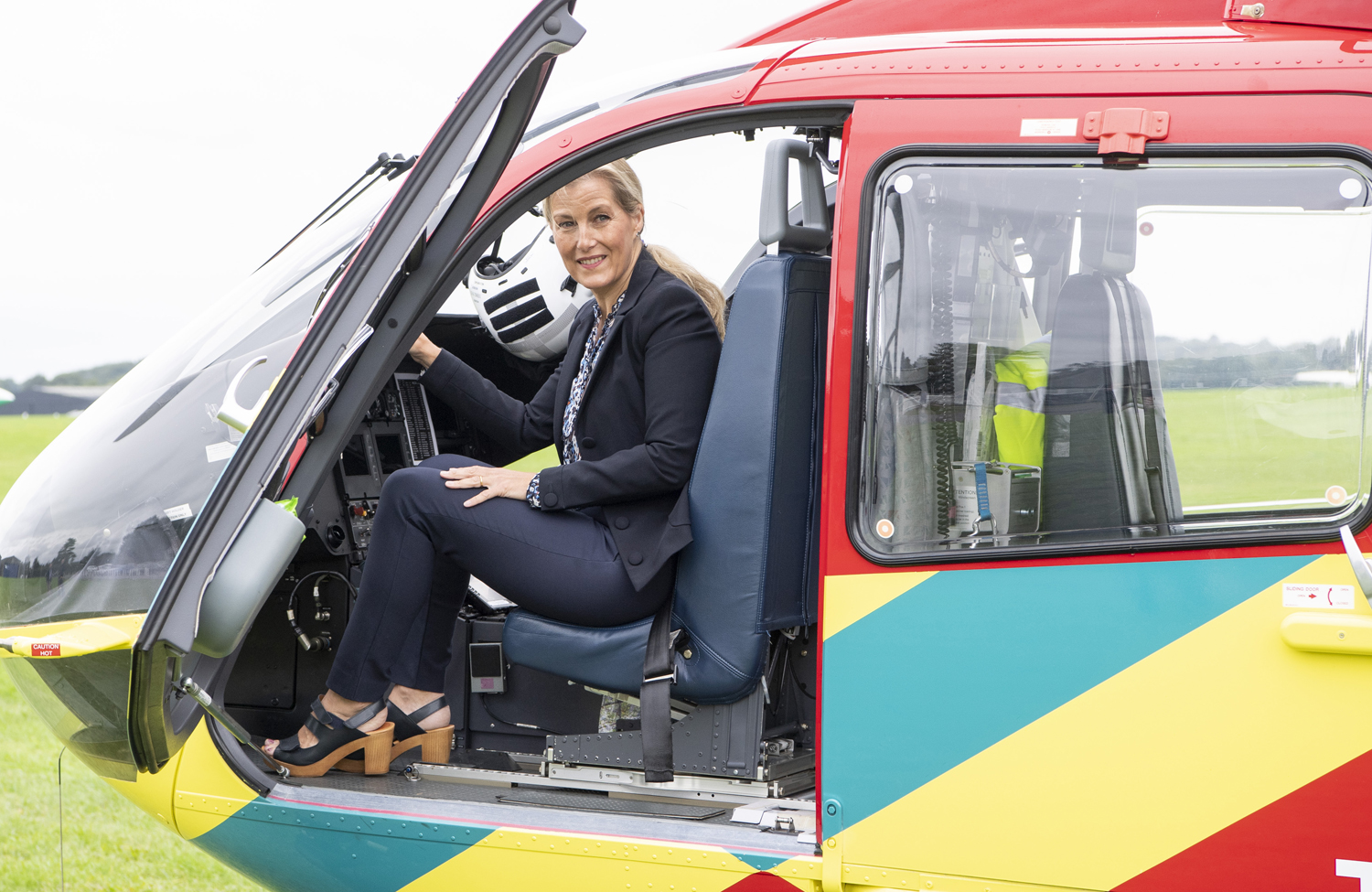 Sophie, Countess of Wessex visits Thames Valley Air Ambulance