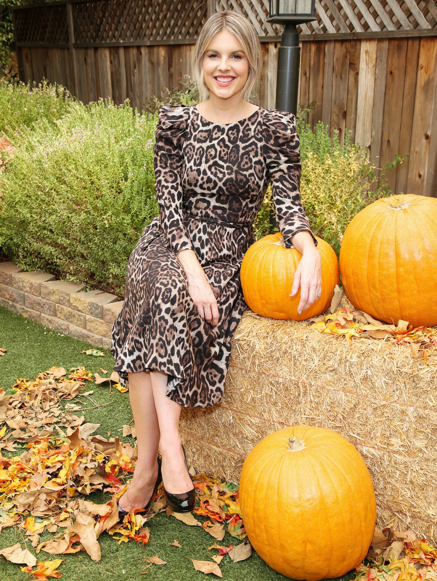 """Ali Fedotowsky-Manno on the set of Hallmark Channel's """"Home & Family"""" at Universal Studios Hollywood"""