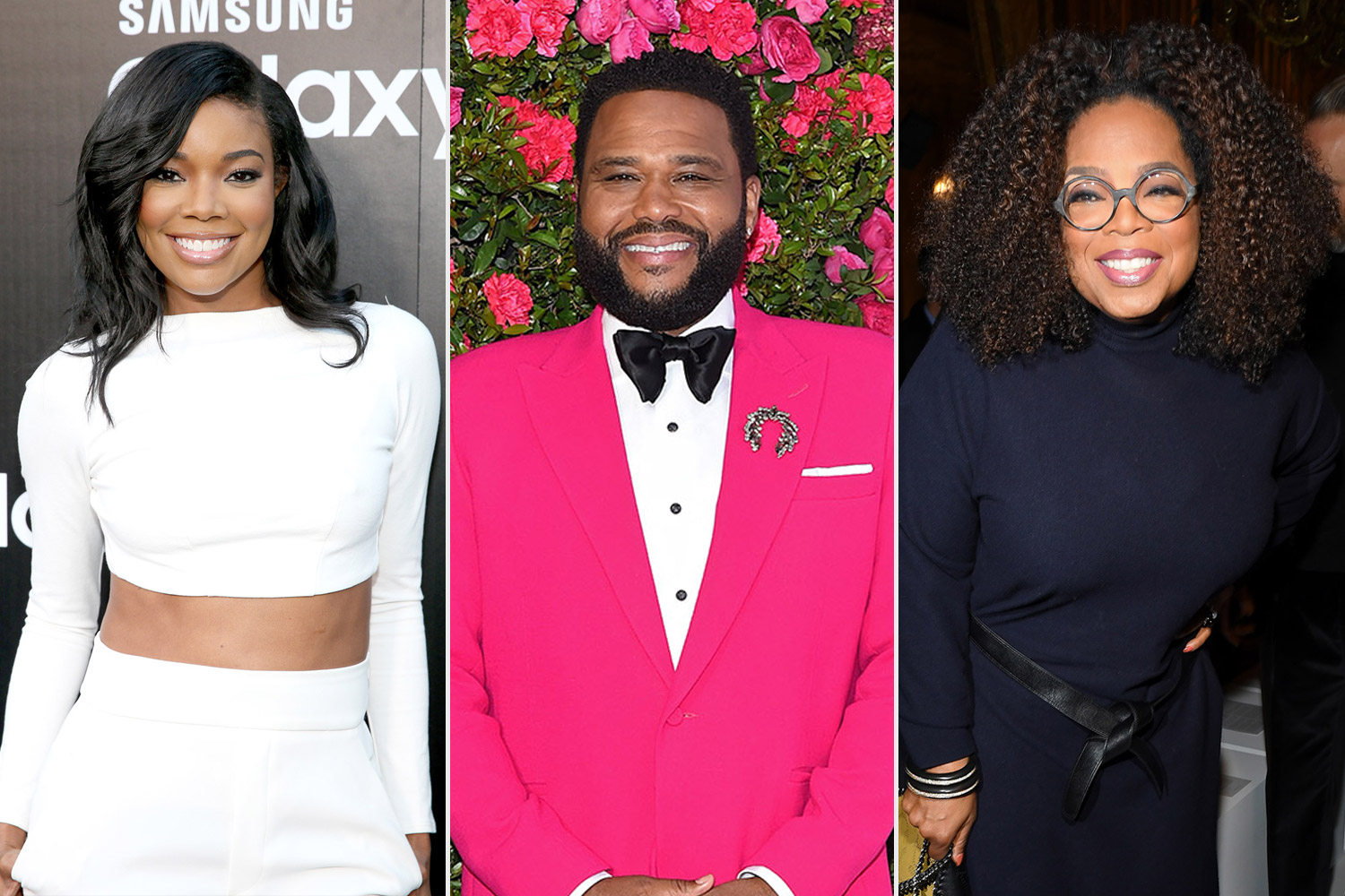 Anthony Anderson, Gabrielle Union and Oprah