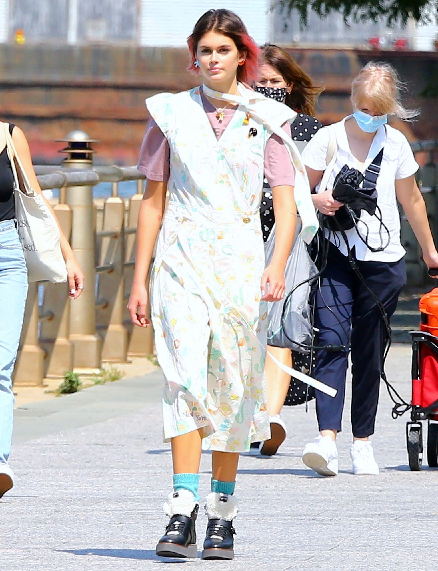 Kaia Gerber During A Photoshoot In New York