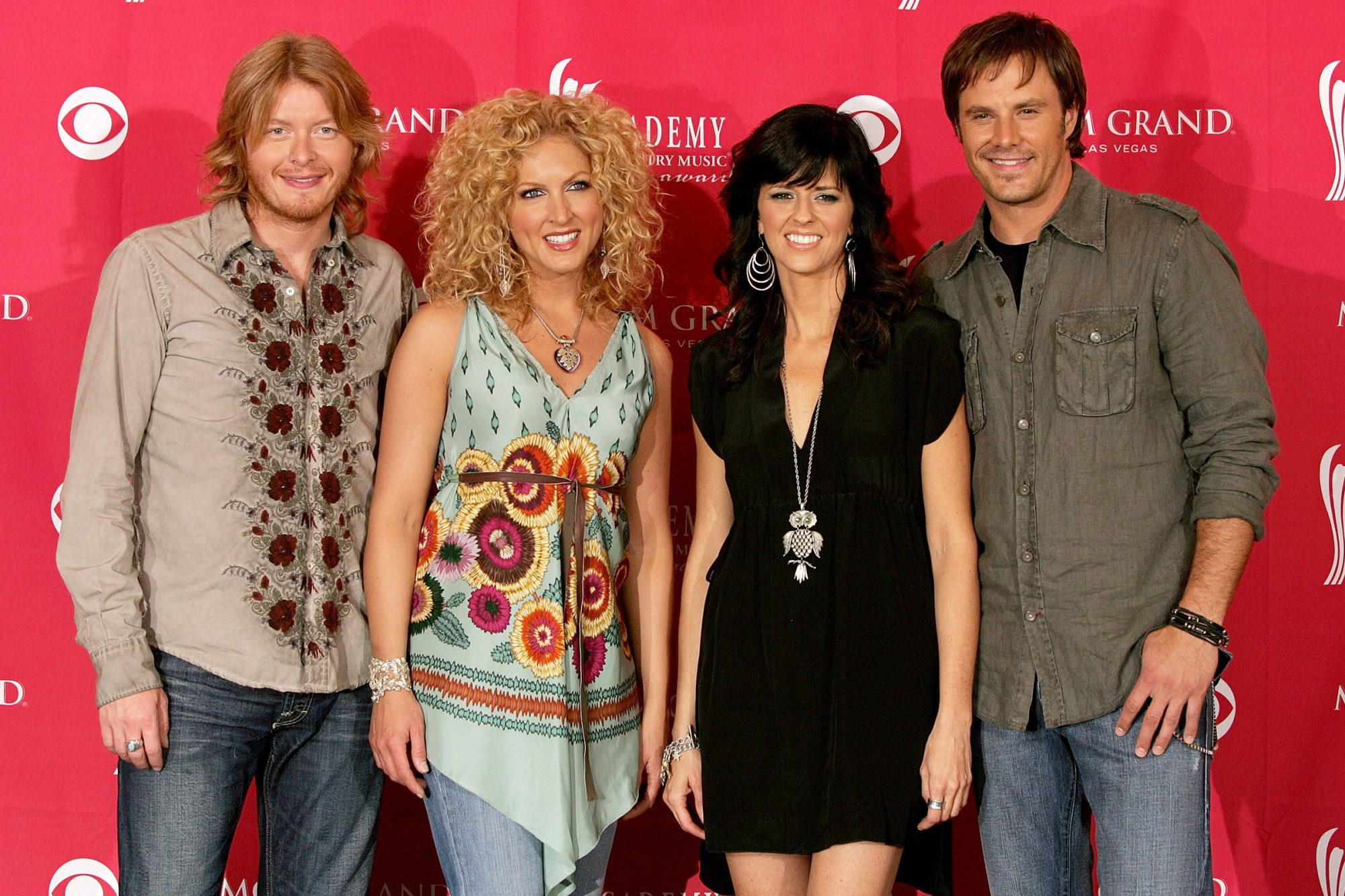 Phillip Sweet, Kimberly Roads, Karen Fairchild and Jimi Westbrook of the group Little Big Town Academy of Country Music Awards