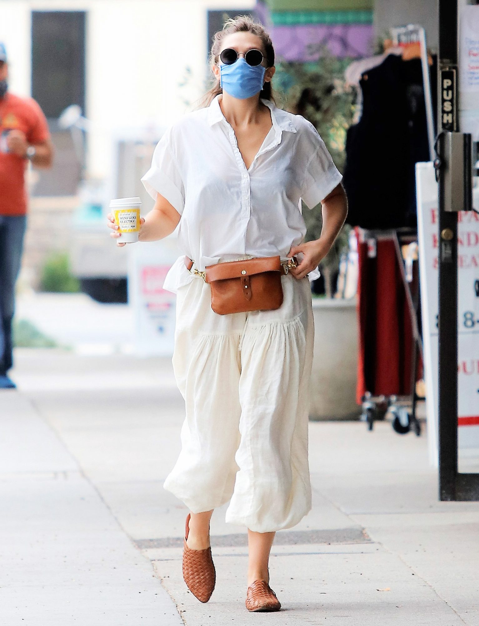 Elizabeth Olsen is Spotted Heading to Alfred Coffee in Los Angeles