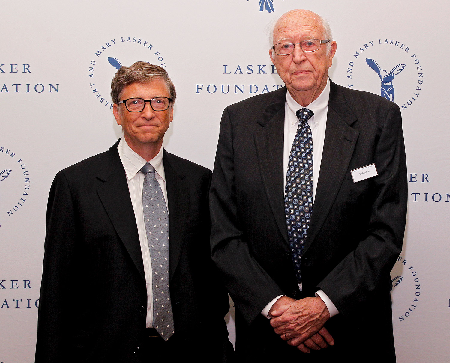 Bill Gates, Sr. are seen during the The Lasker Awards 2013