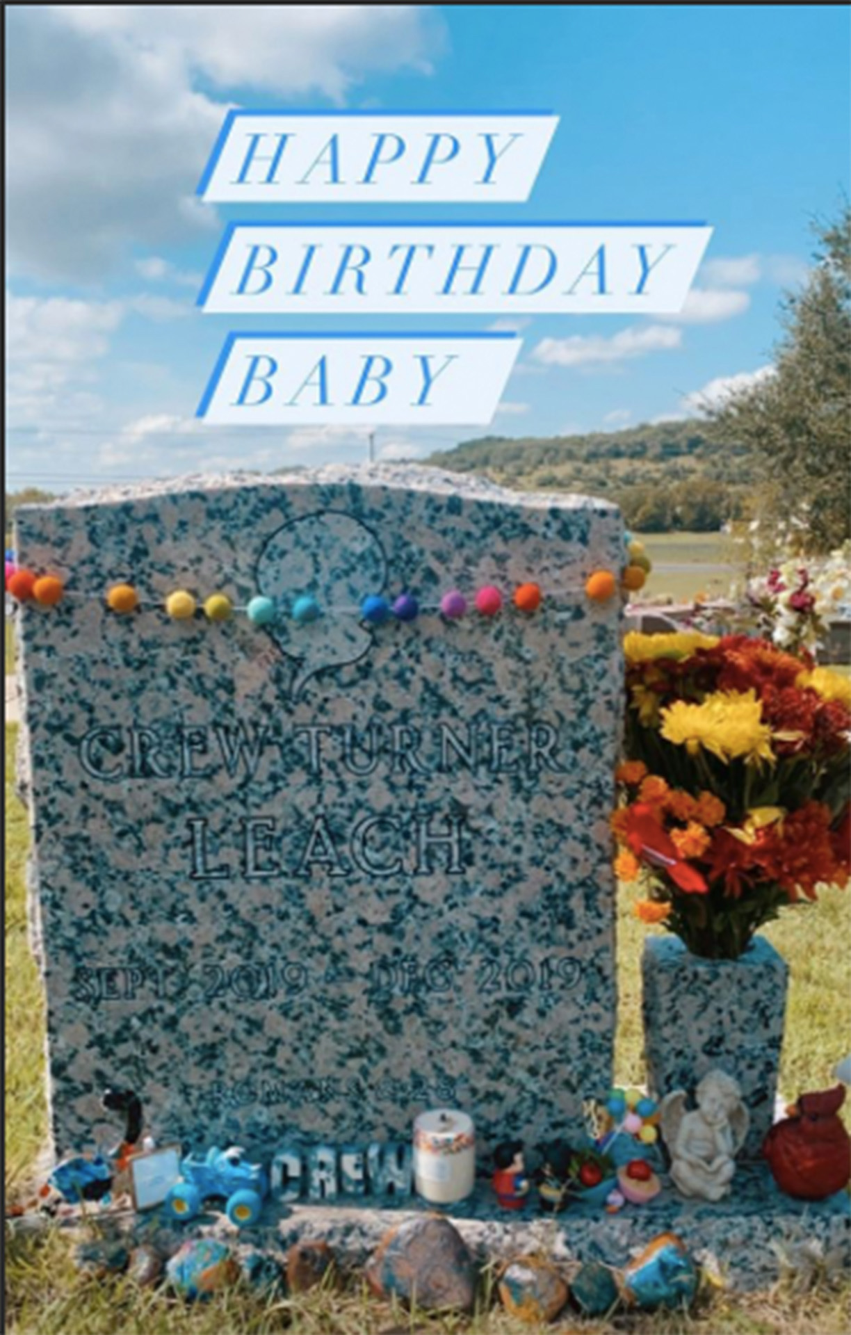 Brittani Boren Leach Visit Late Son Crew's Gave On What Would Have Been His 1st Birthday