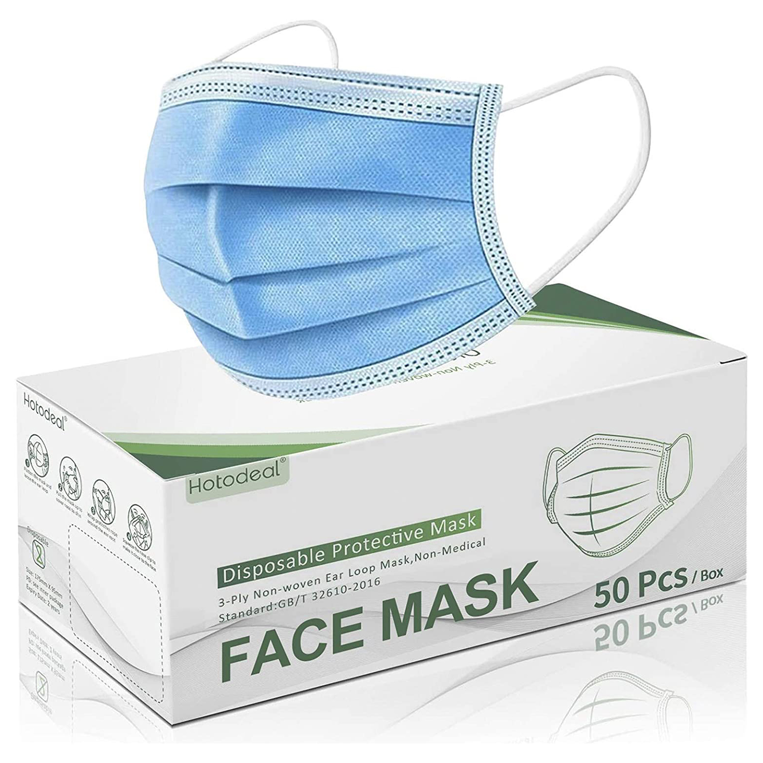 Amazon Disposable 3 Ply Safety Face Mask