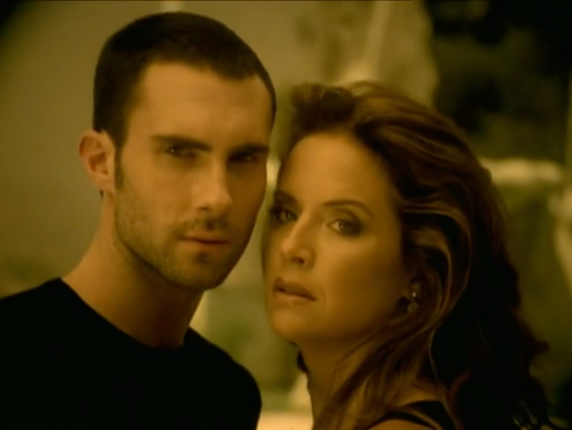 "Adam Levine and Kelly Preston in Maroon 5's Video for ""She Will Be Loved"""