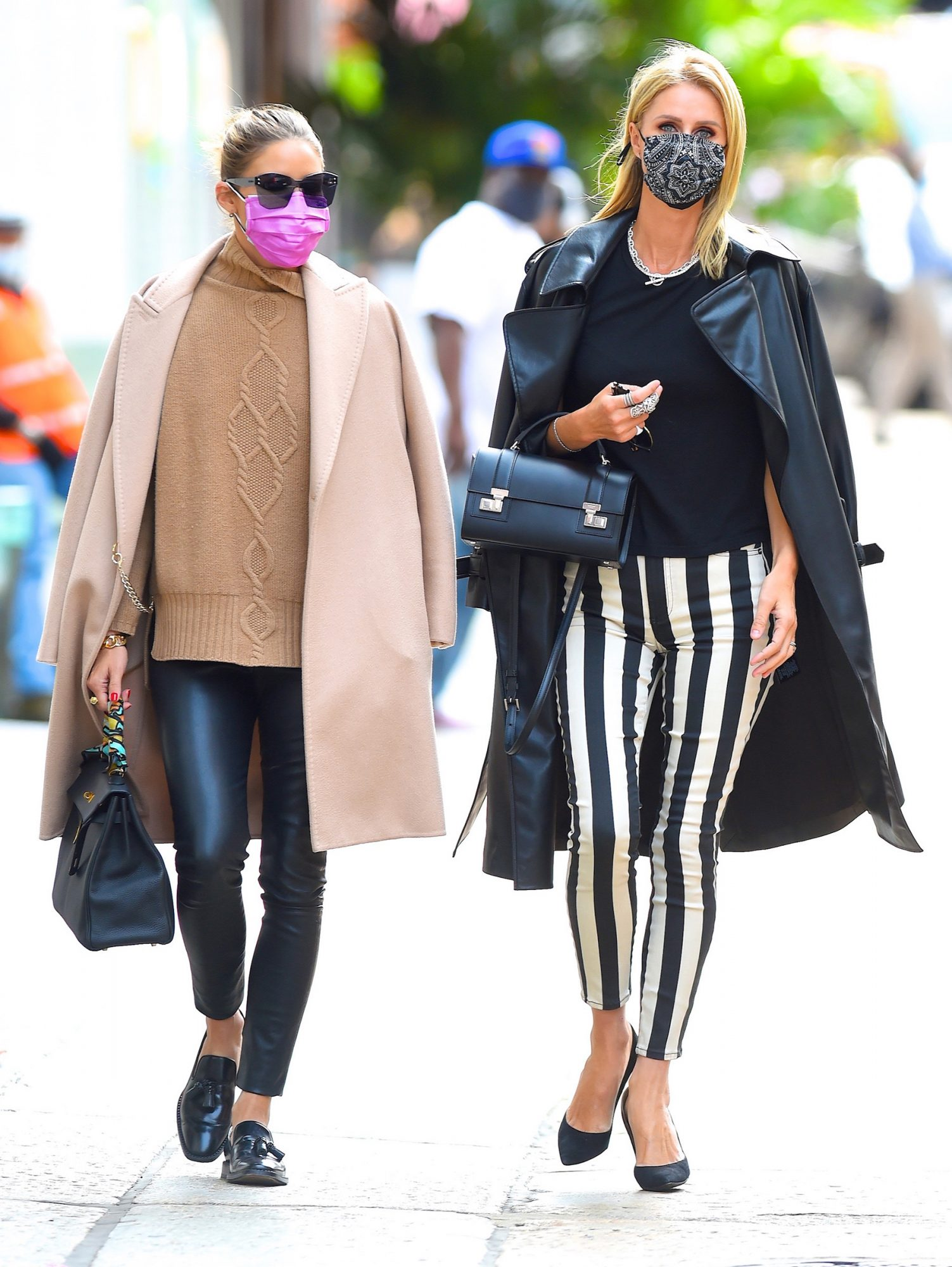 Olivia Palermo and Nicky Hilton Rothschild seen in SoHo