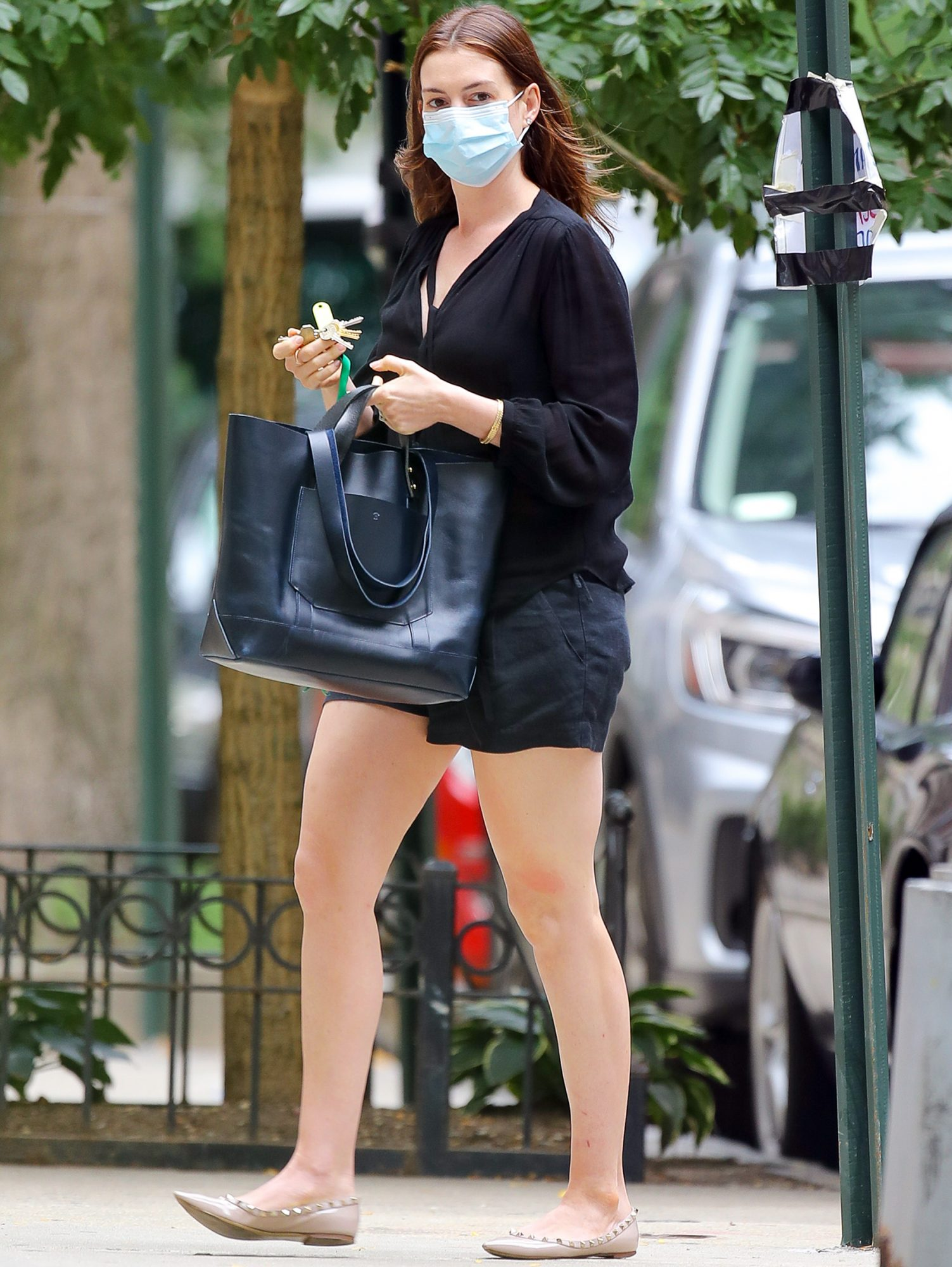 Anne Hathaway was spotted out and about in NYC
