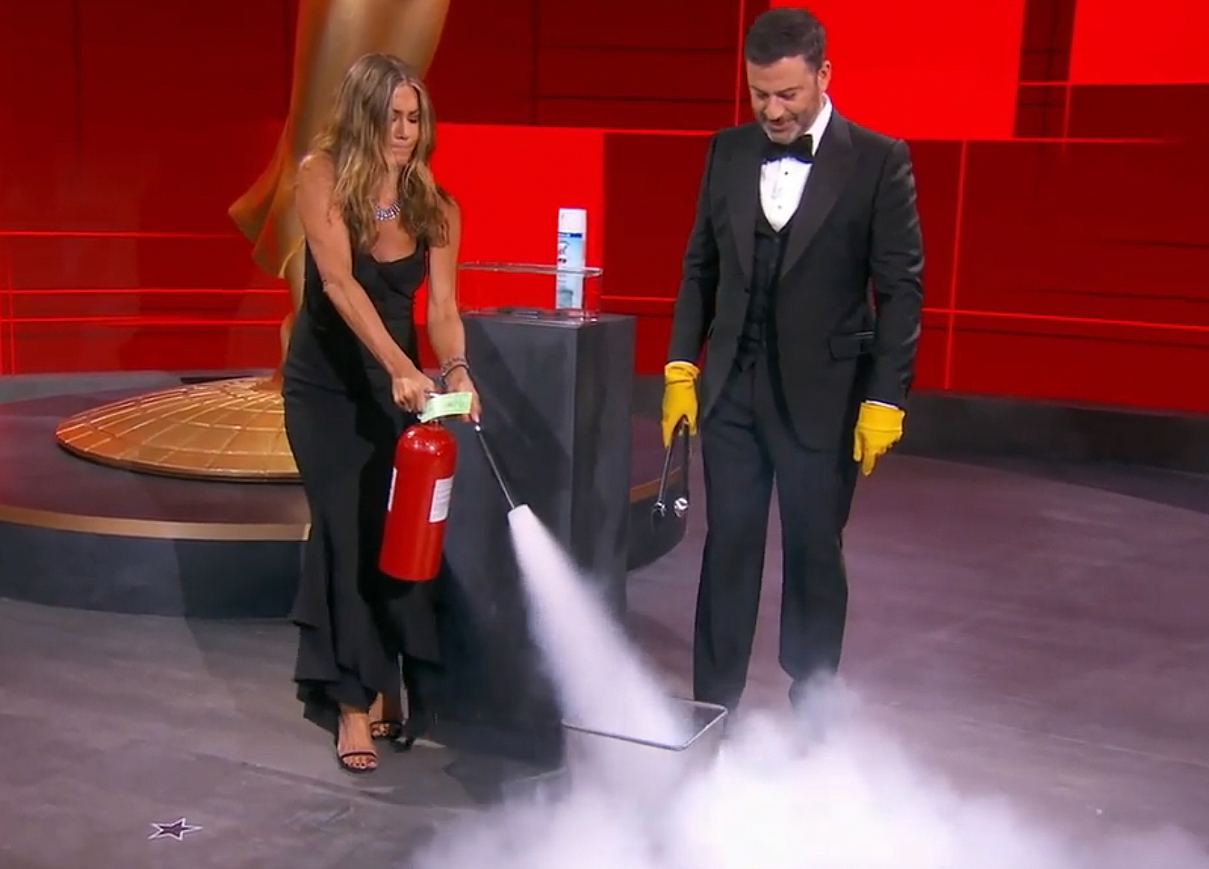 jennifer aniston; jimmy kimmel emmys 2020