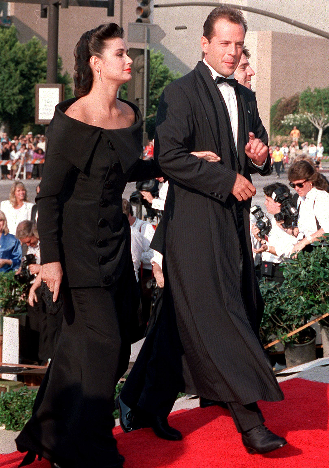 Demi Moore, Bruce Willis at the 1987 Emmys