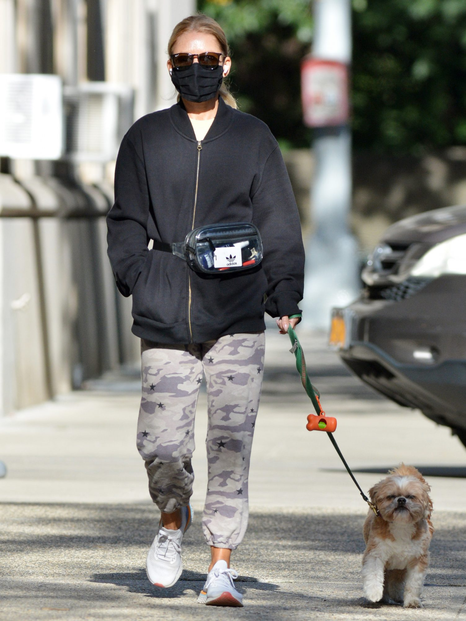 Kelly Ripa Takes Her Dog Chewy Out For a Walk in New York City.