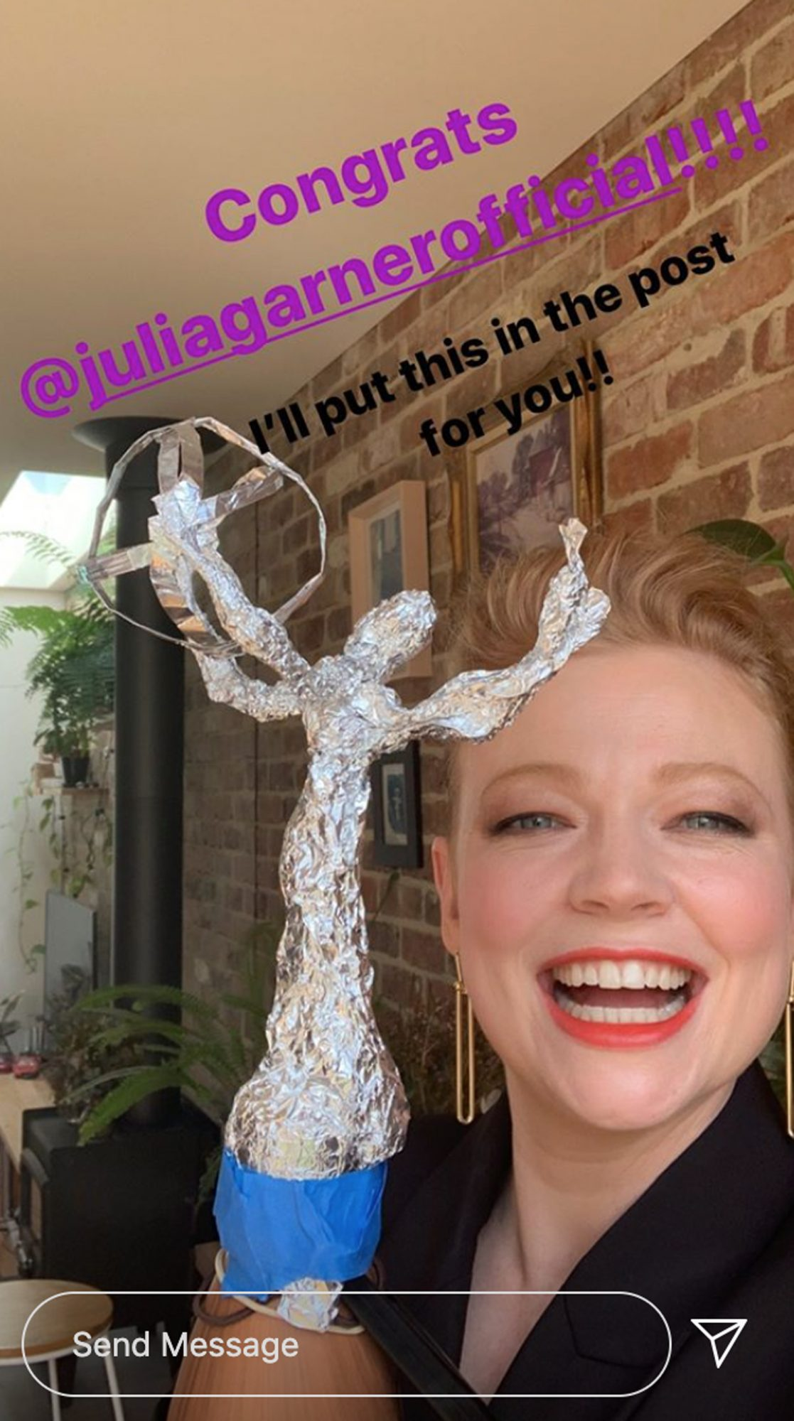 Successions' Sarah Snook Made Fake Foil Emmy