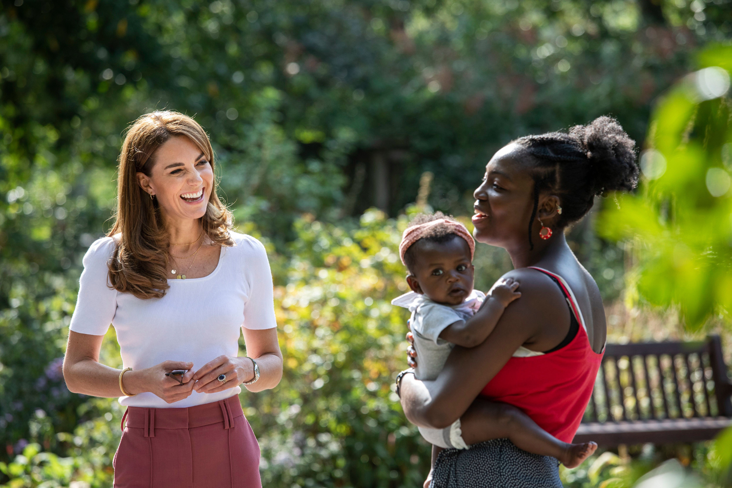 Catherine Duchess of Cambridge learning about parent-powered initiatives