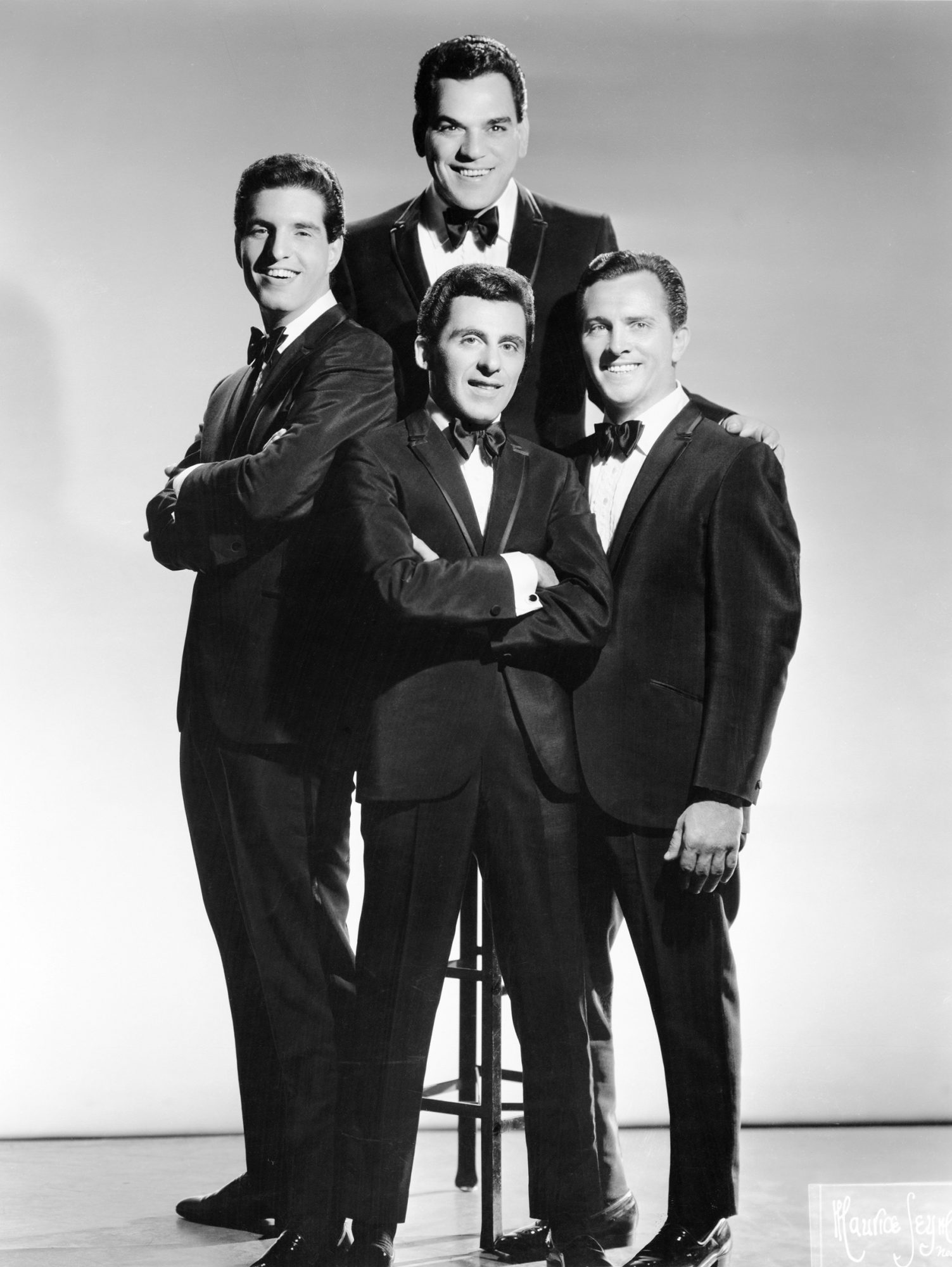 The Four Seasons Clockwise from the top, Nick Massi, Tommy DeVito, Frankie Valli and Bob Gaudio