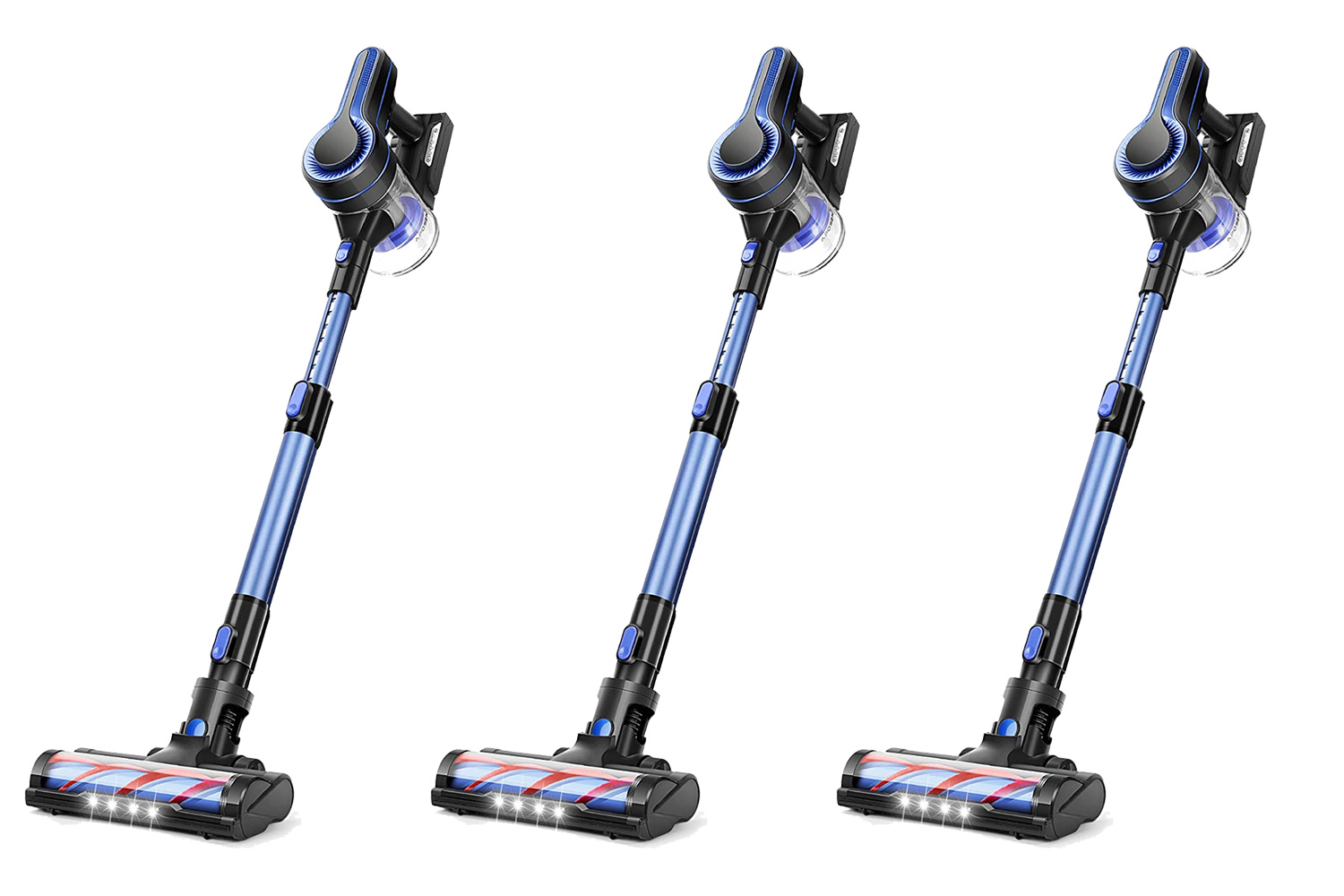 APOSEN Cordless Vacuum Cleaner, 24KPa Powerful Suction 250W Brushless Motor 4 in 1 Stick Vacuum for Home Hard Floor Carpet Car Pet H250 Blue