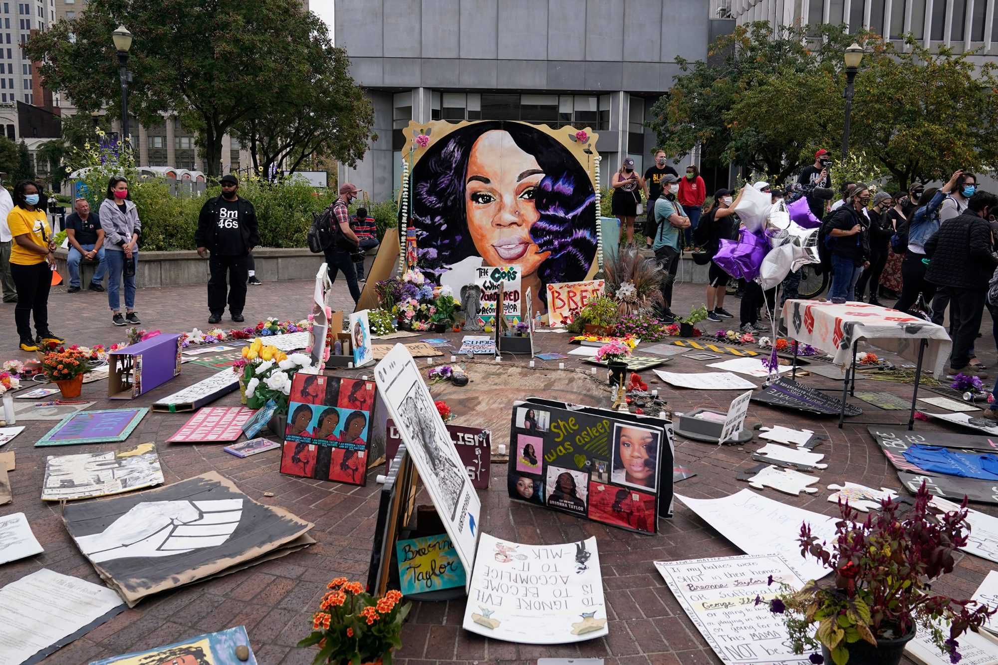 Racial Injustice Breonna Taylor, Louisville, United States - 23 Sep 2020