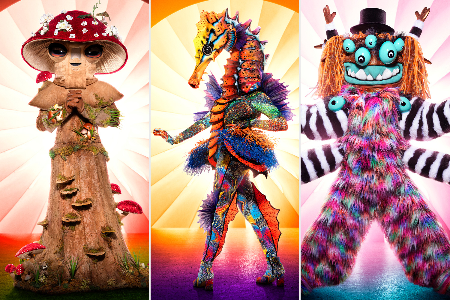 The Masked Singer Mushroom Seahorse Squiggly Monster