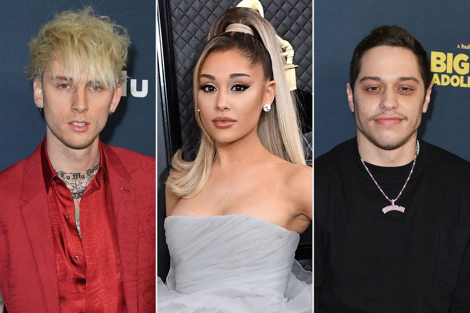 Machine Gun Kelly; Ariana Grande; Pete Davidson