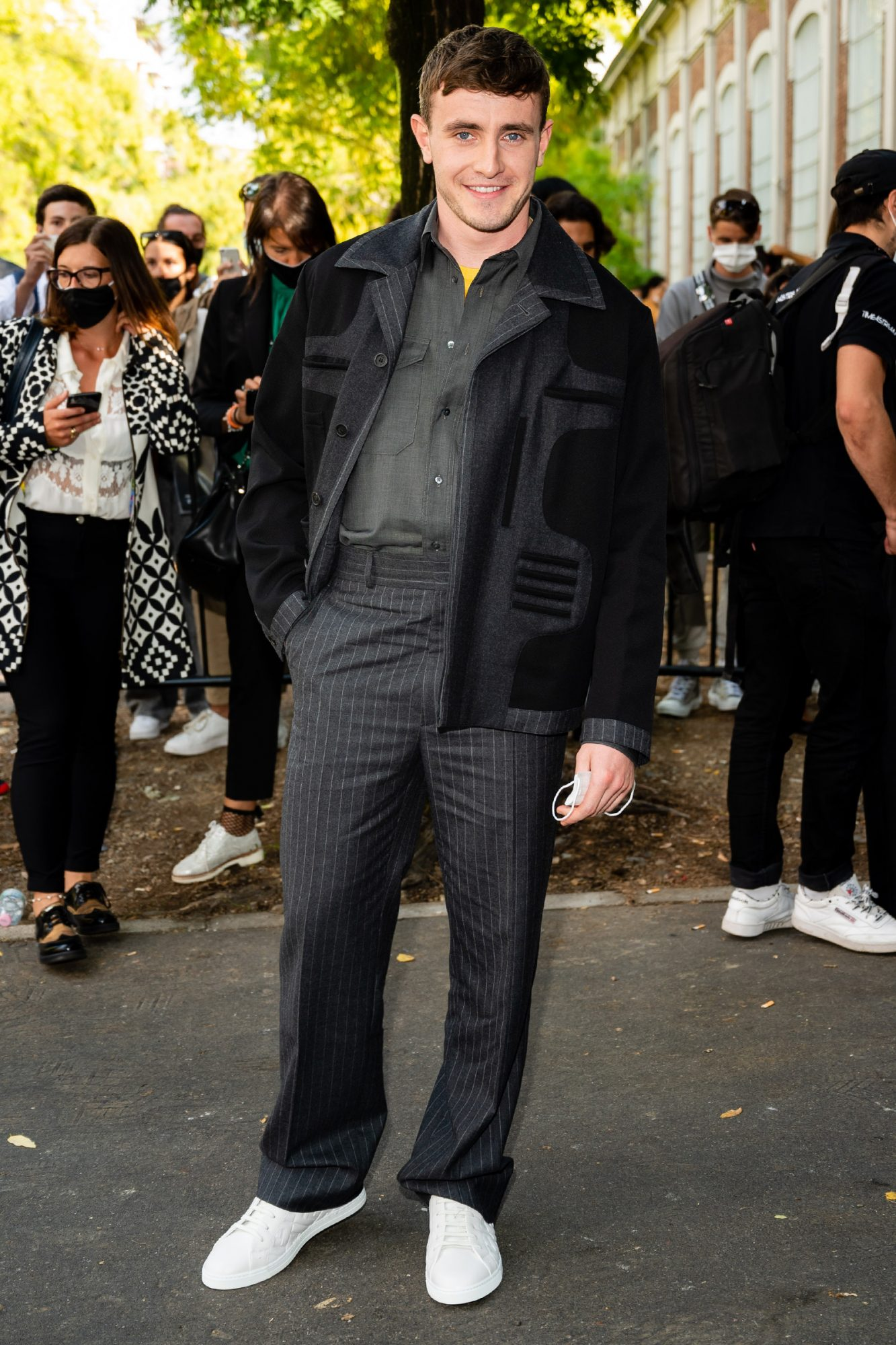 Paul Mescal attends Fendi's fashion show during the Milan Women's Fashion Week on September 23, 2020 in Milan, Italy