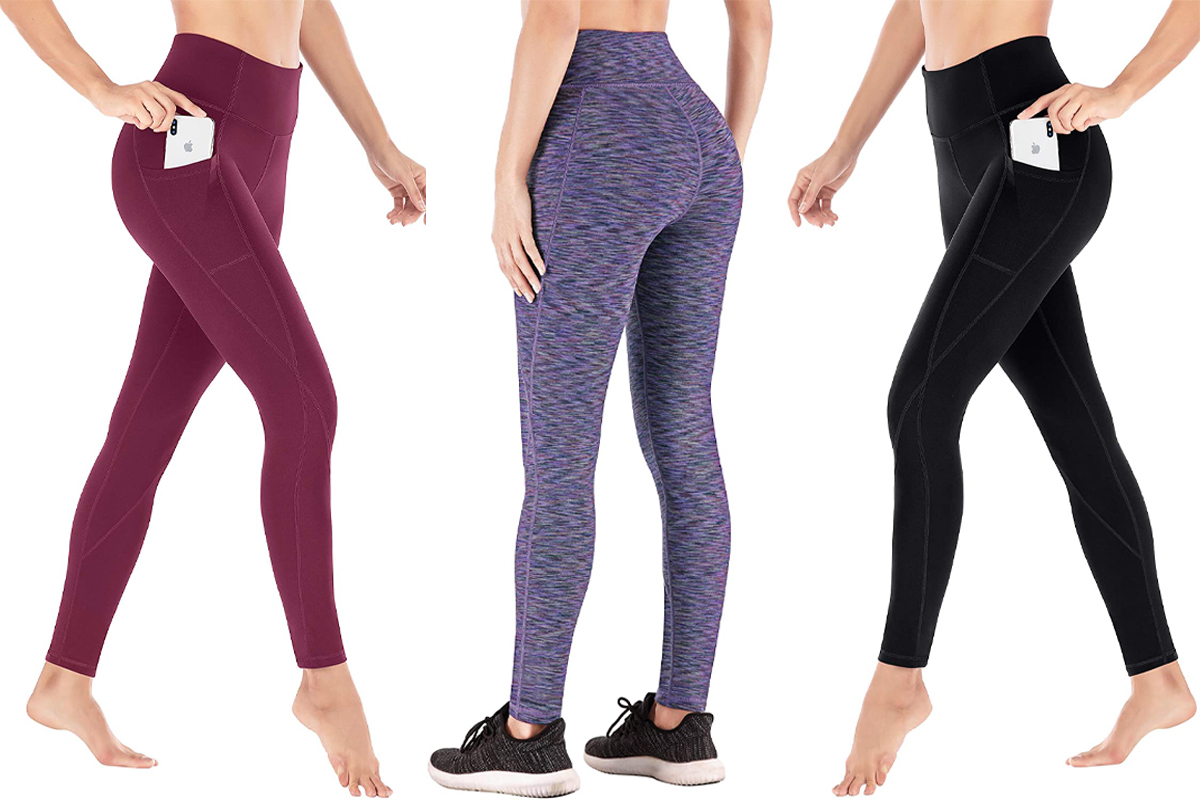 Heathyoga Yoga Pants for Women with Pockets High Waisted Leggings