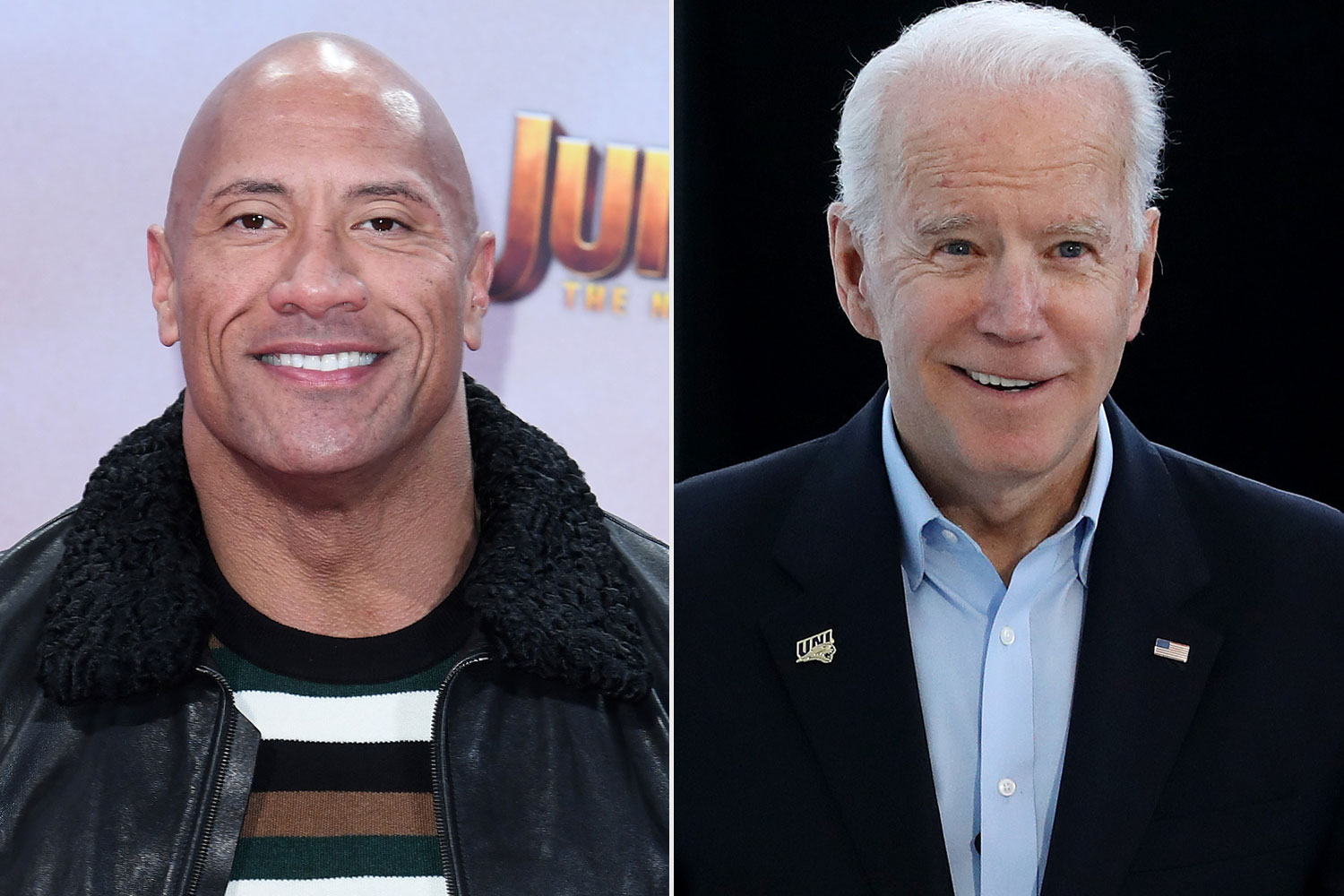 Dwayne Johnson, Joe Biden