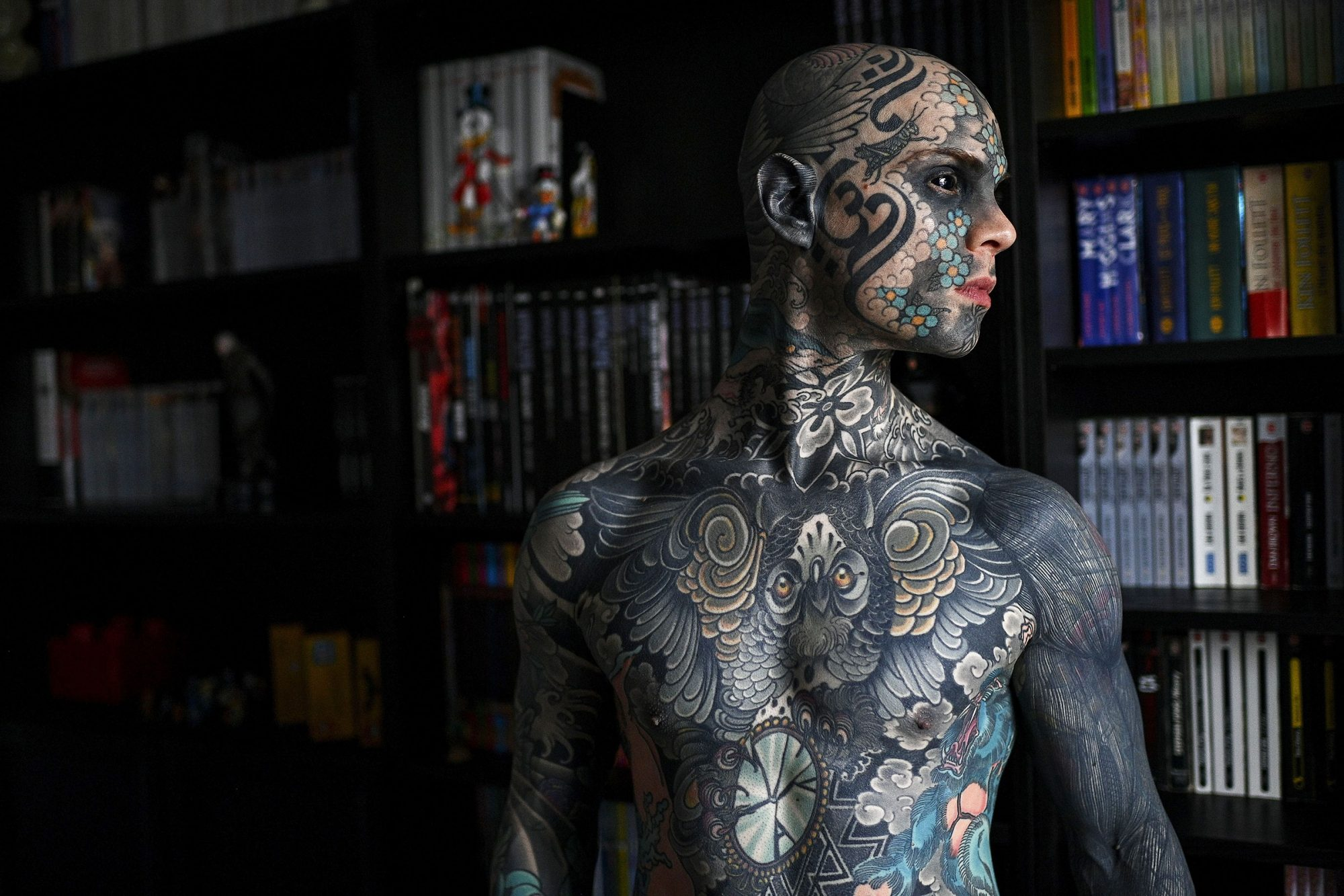 French primary school teacher and tattoo enthusiast Sylvain Helaine