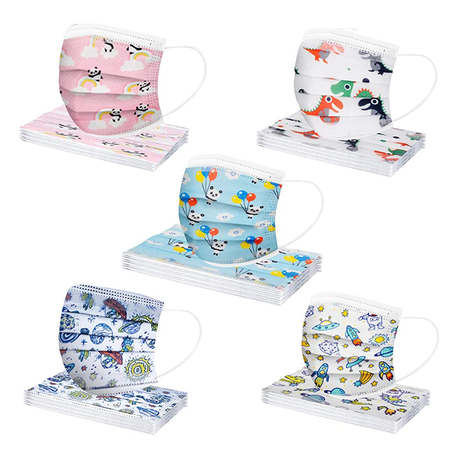 3 Ply Non-Woven and Breathable, Cute Cartoon