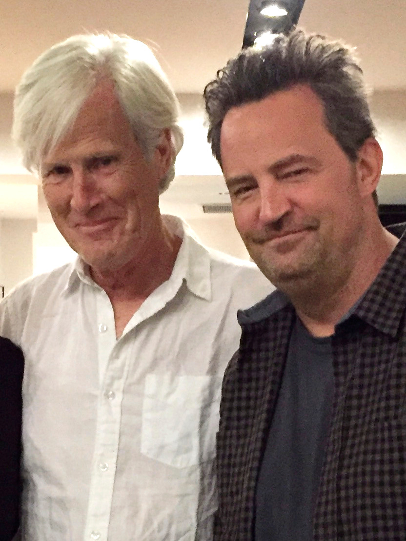Keith Morrison and stepson Matthew Perry