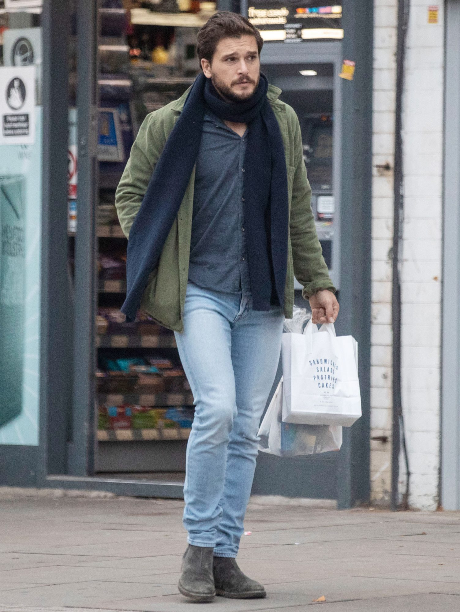 Kit Harington pictured after it was revealed he is due to become a Father