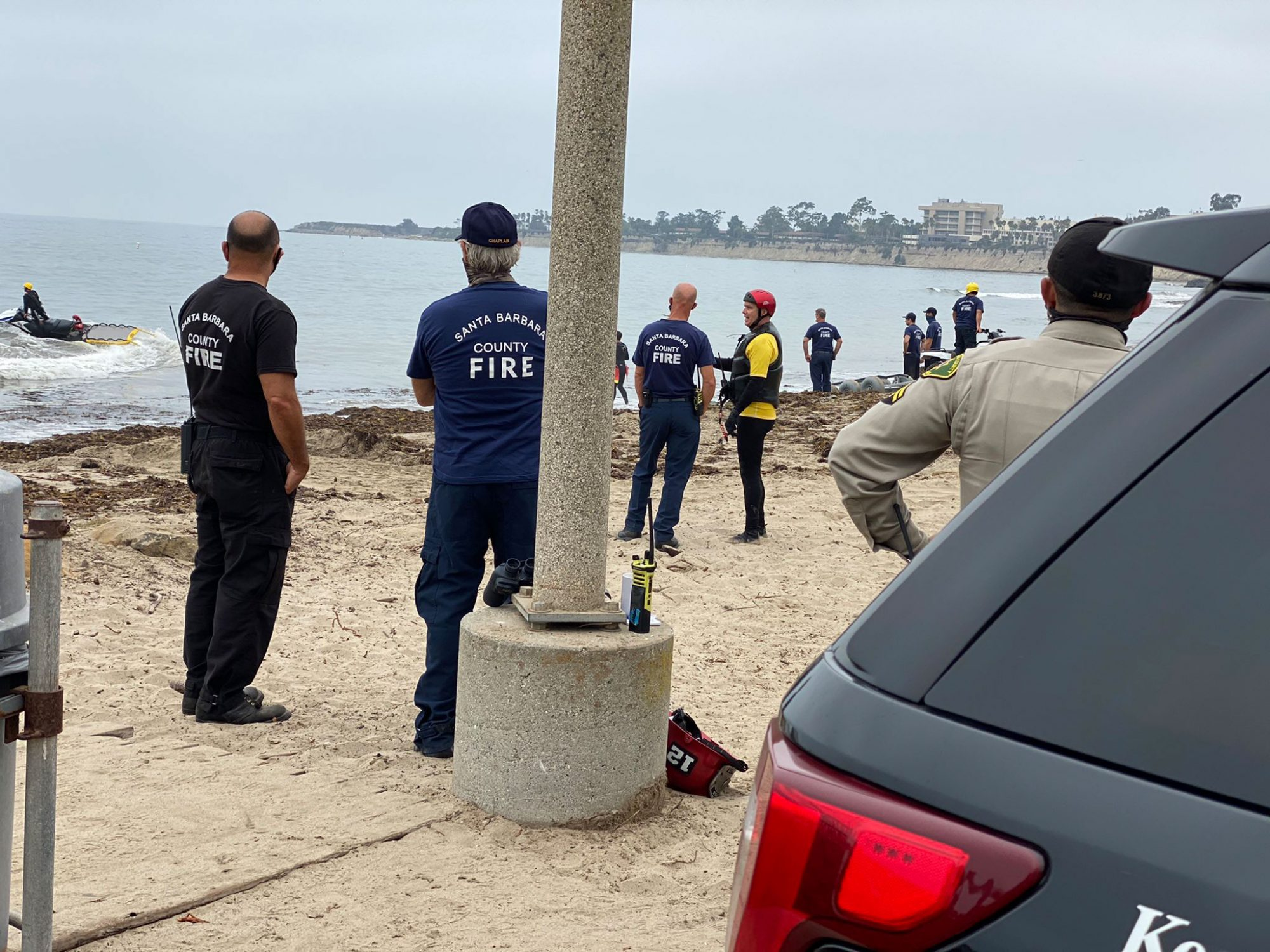 Sheriff's deputies and County Air Support are assisting Coast Guard with report of a plane crash 2 miles off Campus Point